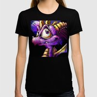 Spyro The Dragon Womens Fitted Tee Black SMALL