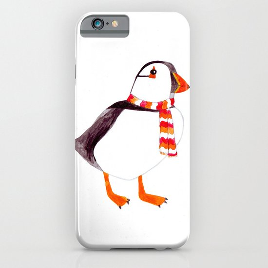 Puffin has a scarf  iPhone & iPod Case