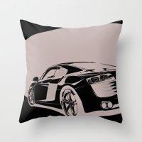Audi R8, Black & White Throw Pillow