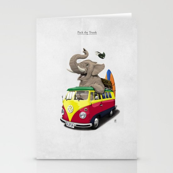 Pack the Trunk Stationery Card