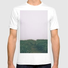 Into the unknown SMALL White Mens Fitted Tee
