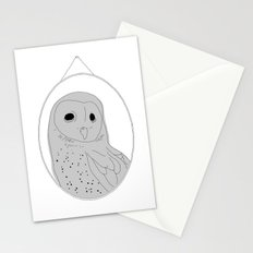 The wall of one conceited owl Stationery Cards