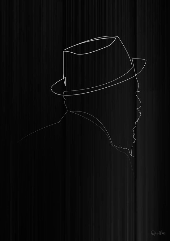 Single Line Art Print : One line thelonious monk art print by quibe society