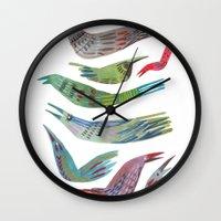 Oiseaux Wall Clock