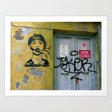 Chinese Street Circus Art Print