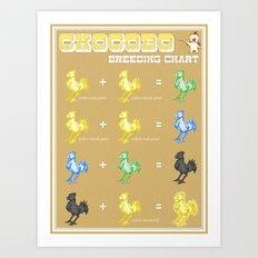 Chocobo Breeding Chart Art Print