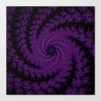 Purple Spiral Fractal Design Canvas Print