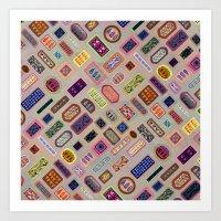Multi Color Melody Light Art Print