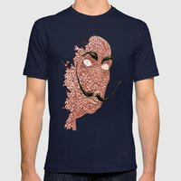 DALI STACHE Mens Fitted Tee Navy SMALL
