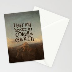 I Left My Heart in Middle Earth Stationery Cards