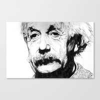 Canvas Print featuring Albert Einstein by DeMoose_Art