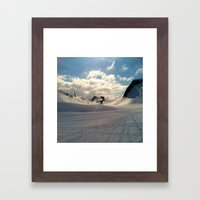 Snowcapped Iceland Framed Art Print