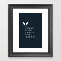 QUOTE-4 Framed Art Print