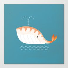 Legal Whale-Sushi Canvas Print