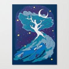 Summer Foxes Canvas Print
