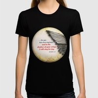 The Shadow of Your Wings Womens Fitted Tee Black SMALL