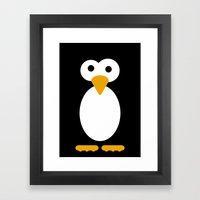 Minimal Penguin Framed Art Print