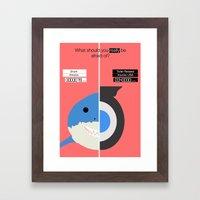 Shark Vs Toilet. Framed Art Print