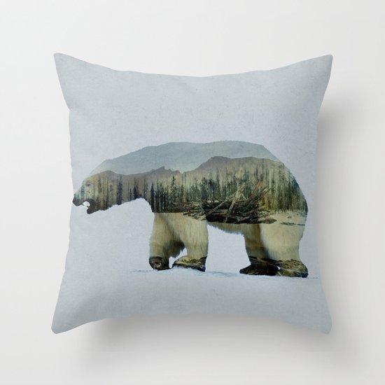 The Arctic Polar Bear Throw Pillow