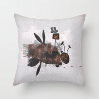 Bee Fighter Throw Pillow