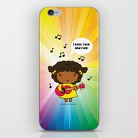 I Love Rock N' Roll iPhone & iPod Skin