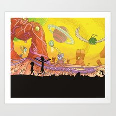 Rick and Morty - Silhouette Art Print