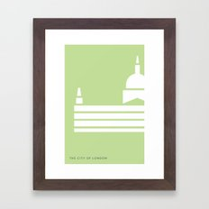Iconic London: St Paul's Cathedral Framed Art Print