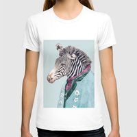 zebra T-shirts featuring Zebra by Animal Crew