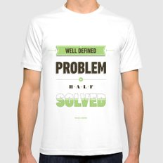 Well defined problem Mens Fitted Tee White SMALL