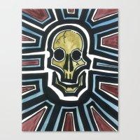 Sovereign Skull Canvas Print