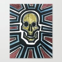 Sovereign Skull Canvas Print