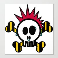 :::::::::PUNK SKULL:::::::::: Canvas Print