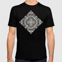 Old Lace Mens Fitted Tee Black SMALL