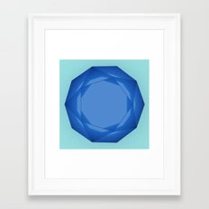 Blue Gem Framed Art Print