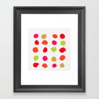 Strawberry Kiwi Framed Art Print