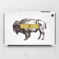 Wild & Free (Bison) iPad Case