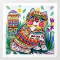 magic spring cat Art Print