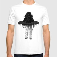 Through The Black Hole Mens Fitted Tee White SMALL