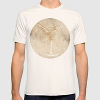 Cocktail Hour Mens Fitted Tee Natural SMALL
