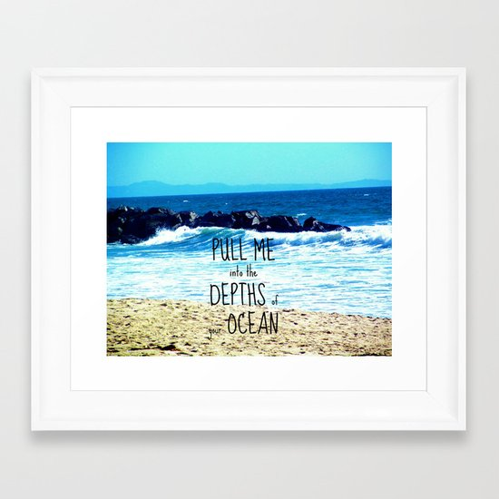 PULL ME INTO YOUR DEPTHS II  Framed Art Print