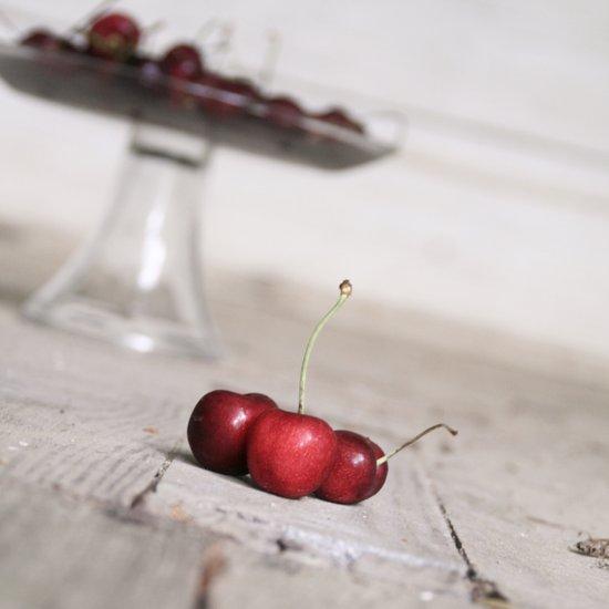 Three Lucky Cherries Canvas Print