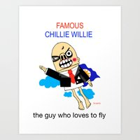 the guy who loves to fly Art Print