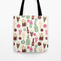 Soda Jerk Pattern Tote Bag
