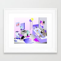 Bathroom Party Framed Art Print