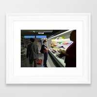 People of the Economat Framed Art Print