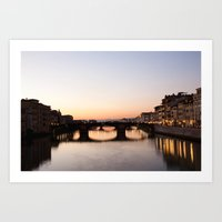 Sunset In Florence Art Print