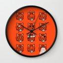 Eyes Of The Tiger Wall Clock
