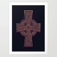Art Print featuring Celtic Cross by Pakowacz