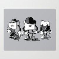 Computer Mafia Canvas Print