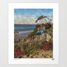 Billy At The Beach Art Print